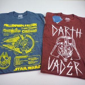 STAR WARS Disney Set of Graphic T-shirts NEW